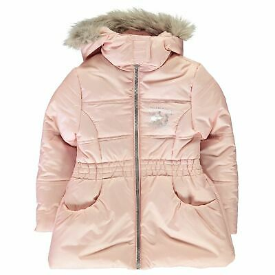 Princesss Padded Coat Girls Character Wear Pink Jacket Outerwear