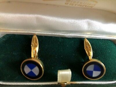 Vintage Gold and Mother of Pearl cufflinks  (refined BMW logo)