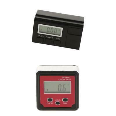 LCD Black/Red Protractor Angle Bevel Level Box Inclinometer Meter 1PCS