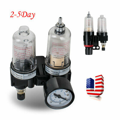 Air Pressure Regulator Oil Water Separator Trap Filter Airbrush Compressor-【USA】