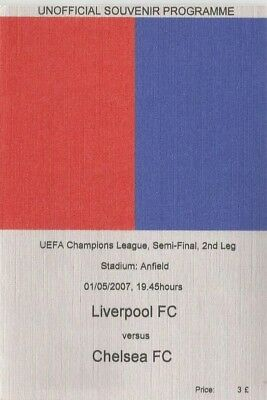 LIVERPOOL v CHELSEA   2006/07  UEFA CHAMPIONS LEAGUE SEMI FINAL Unofficial issue