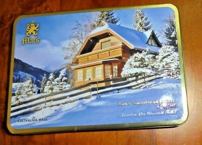 Collectable Mac's Shortbread Biscuit Tin ~ Australian Alps Mountain Chalet