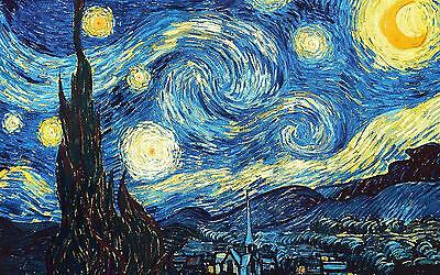 """The Starry Night Large Canvas Print  A1 30"""" x 20"""""""