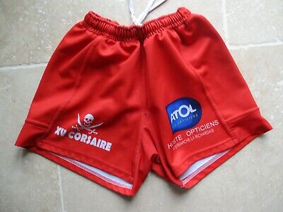 Short rugby XV CORSAIRE rouge taille L