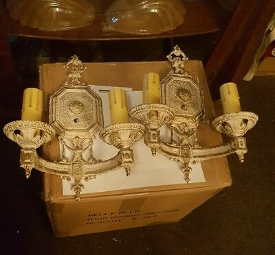 Antique / Vintage Wall Sconce (Pair)