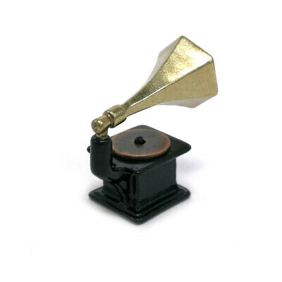 Handcraft Phonograph Record Player 1:12 Scale Doll House Miniature Gramophone