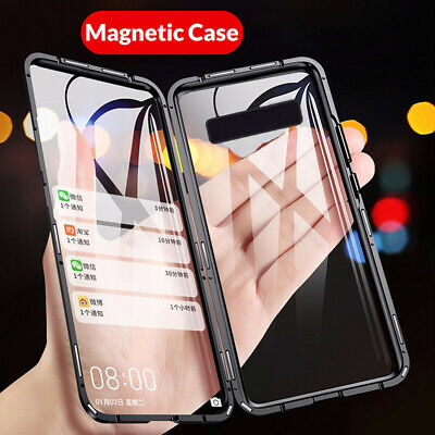 360° Magnetic Adsorpt Temper Glass Case Cover For Samsung Galaxy S10 5G S9 Plus