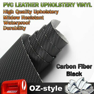 Carbon Fiber Synthetic Leather Car Upholstery Vinyl Fabric Material 75cm x 140cm