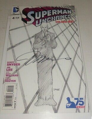SUPERMAN UNCHAINED #4 - JIM LEE SKETCH VARIANT (1:300) signed by Jim Lee NM