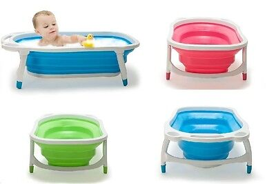 Baby Infant Newborn Bath Bathtub Bathing Folding Safety Foldable Tub
