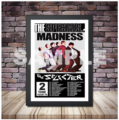 2 TONE TOUR CONCERT POSTER THE SPECIALS MADNESS A4 OR A3 Size + Framing Option