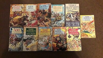 11 x Discworld Novels by Terry Pratchett Paperback Pyramids Men at Arms Sourcery