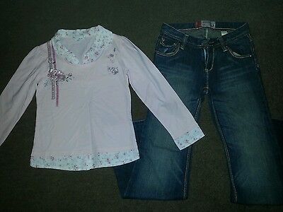Gorgeous Girls Next Long Sleeve Top & Gap Long and Lean Jeans 7 Years