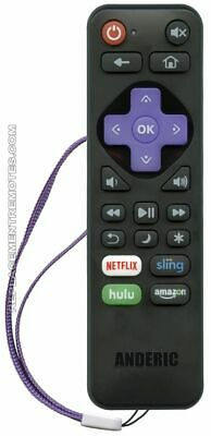 NEW ANDERIC Remote Control for Roku Premiere 4630, Roku Ultra 4640
