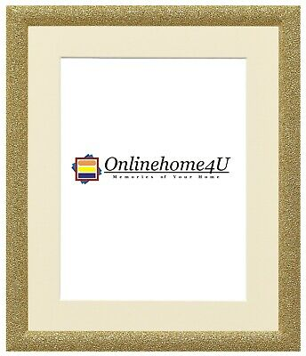 Stardust Glitter Sparkle Effect Picture Frame Gold Color Photo Frame With Mounts