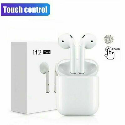 i12 TWS Bluetooth 5.0 Earphones Headset Wireless Headphone Earbuds Touch Control