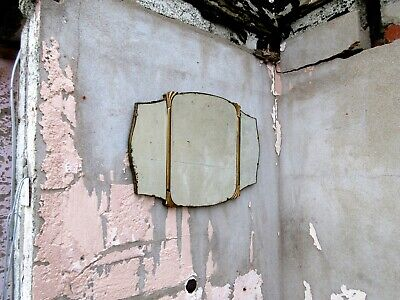 Art Deco French Mirror with Original Chain