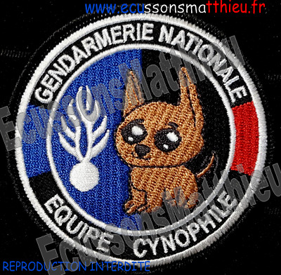 Ecusson CYNOPHINE HUMORISTIQUE Gendarmerie nationale patch france collection