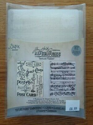 Sizzix Embossing Folder Fancy Frame by Tim Holtz Alterations New CLEARANCE