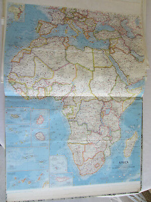 Map Of Africa 1960.Vintage 1960 Africa Map Authentic Original 50 Year Old Map