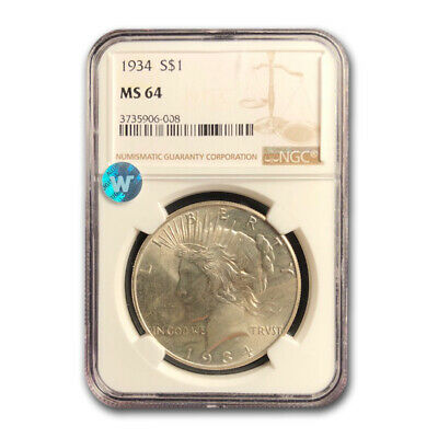 1934 Peace Dollar MS-64 NGC - SKU #23869