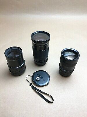 Joblot Of 3 Camera Lenses, Pentacon auto2.8/135-kiron 28-105mm-Hanimar 135mm.