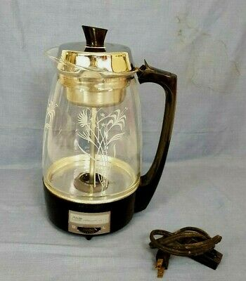1970's SCM Proctor Silex GLASS PERCOLATOR 12 Cup  Electric COFFEE Maker #70503