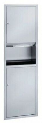 New Bradley 238 Combo Paper Towel and Waste Receptacle 30L - Silver