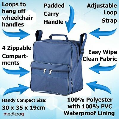 Medipaq Wheelchair Bag Shopping Mobility Storage Holdall Disabled Scooter