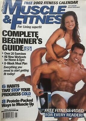 MUSCLE AND FITNESS MAGAZINE - January 2002