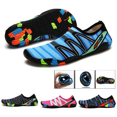 UK Men Womens Water Shoes Aqua Beach Wetsuit Shoes Swim Surf Shoes Size Non-slip