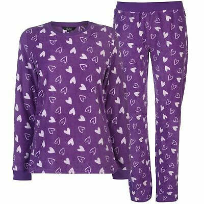 Miso Womens Micro Fleece PJ Set Ladies