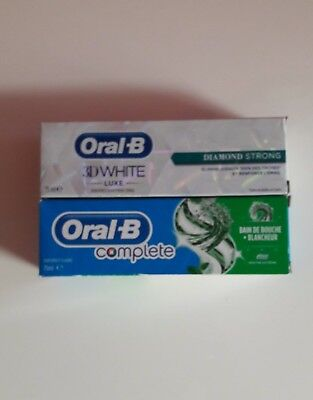 °°° Lot 2 dentifrices ORAL-B 3D White luxe et Complete °°°