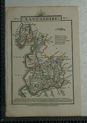 1810 - John Cary Map of the County of Lancashire