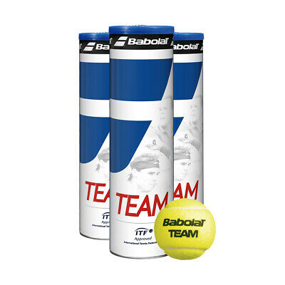 12 or 8 Babolat Team Tennis Balls - All Tubes Brand New Sealed & ITF Approved