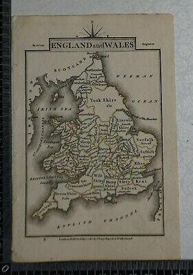 1810 - John Cary Map of England and Wales - Small