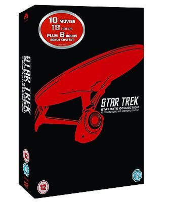 Star Trek Films 1-10 Complete Stardate Collection Dvd Box Set New
