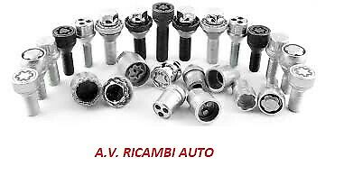 4 BULLONI ANTIFURTO LOCKET ALFA ROMEO 147 166 156 GT 2001/> WHEELS LOCK NEW