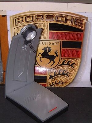 Vintage Porsche Design 1St Gen. Desk Jazz Lamp In Silver Perfectly Operational!