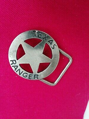 nos VINTAGE 1970s TEXAS RANGER BADGE  BELT BUCKLE FREE WORLD WIDE SHIPPING