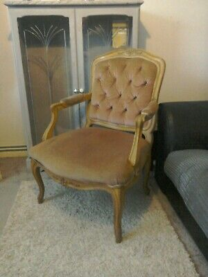 Antique French Chair Salon Lounge Louis XV Style Rococo