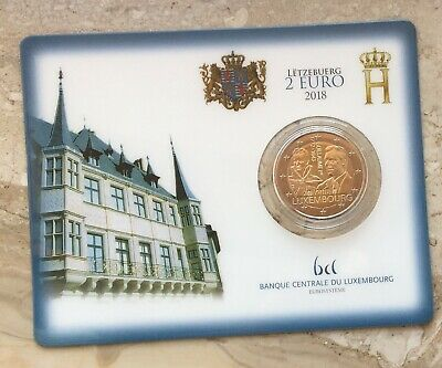 "2 Euro Gedenkmünze Luxemburg 2018 "" Guillaume I "" in Coincard - Mit and. Mzz."
