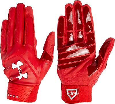 $40 UNDER ARMOUR UA HEATER BATTING GLOVES 1299540-601 RED L/large