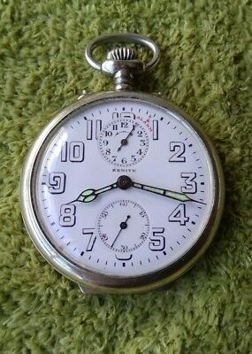 Fantastic Zenith Alarm Pocket Watch Travel Working Condition Perfect Dial Gandhi