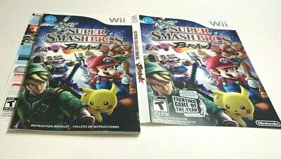 (MANUAL AND ARTWORK ONLY) (NO GAME) WII - Super Smash Bros. Brawl