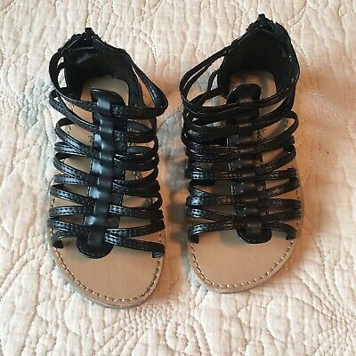 1d061c4ef54 Old Navy Toddler Girls Taylor Classic Gladiator Sandals Black Size 9