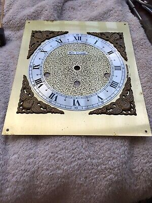 "Vintage Seth Thomas Westminster Chime Bracket Clock Face Very Good 9"" By 7.5"""