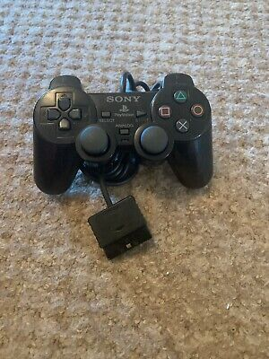 Sony Dual Shock 2 Official Black Wired Original Playstation PS2 Controller