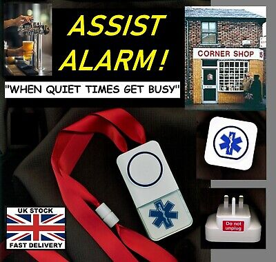 SHOP/PUB ASSIST CALL~ NEW MAINS (cordless) NO BATTERIES REQUIRED* ~ 250m range !