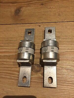 RS 315 Amp BS88 5212797 HRC Industrial Fuse Set Of 2